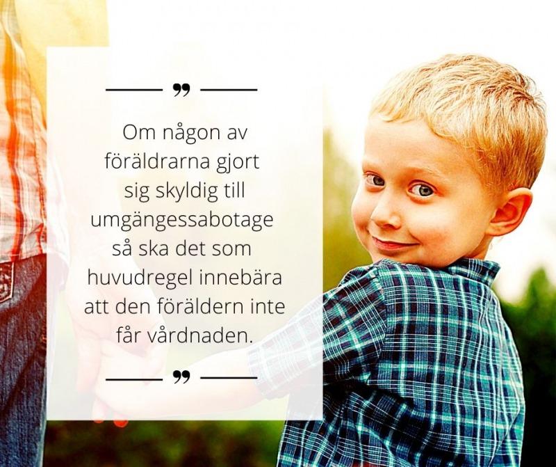 , Vilken betydelse har barnets behov av en relation med båda föräldrarna i vårdnadstvister?, Rättsakuten